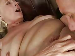 Young guy fucking chubby grandma