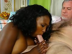 Beautiful busty black BBW wants you to cum in her mouth
