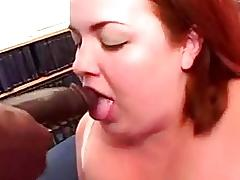 Fatty plumper interracial fucking