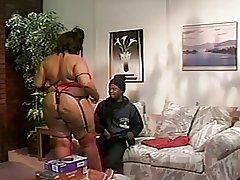 Black BBW fucked in her gigantic ass.