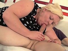 Horny BBW takes off her clothes and gets naked in front of